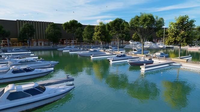 Aqua City phát triển đầy đủ và đồng bộ loạt tiện ích đẳng cấp. (Ảnh: Bến du thuyền 5 sao tại Aqua City)