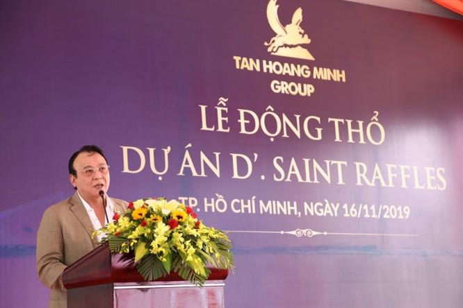 Ông Đỗ Anh Dũng, Chủ tịch – Tổng giám đốc Tập đoàn Tân Hoàng Minh phát biểu tại buổi lễ