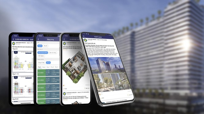 Mọi thao tác tìm kiếm thông tin, booking, đặt cọc được đơn giản hóa qua Sunshine App