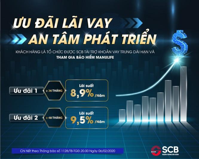 SCB: Khách hàng doanh nghiệp được vay ưu đãi với lãi suất chỉ từ 8,9%/năm ảnh 1