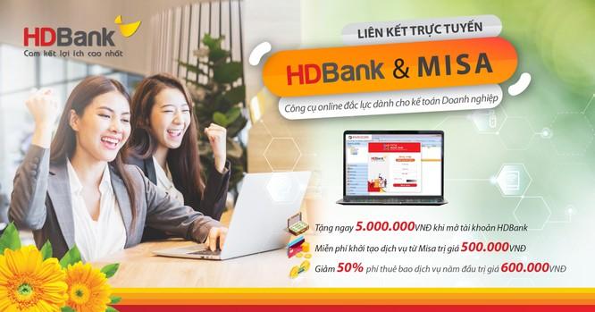 HDBank kết hợp cùng MISA triển khai dịch vụ kế toán online ảnh 1