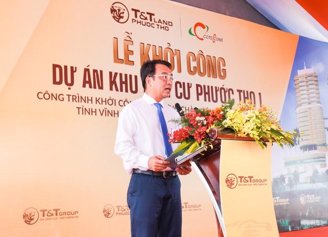 Ông Lữ Quang Ngời, Chủ tịch UBND tỉnh Vĩnh Long đánh giá cao sự lựa chọn của Tập đoàn T&T Group khi đầu tư vào dự án khu dân cư Phước Thọ tại TP Vĩnh Long.