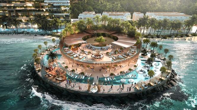 Hình ảnh phối cảnh Beach Club của Vega City Nha Trang