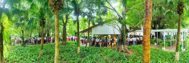 Khách xếp hàng cả cây số để xem nhà mẫu và mua nhà tại Ecopark ảnh 1