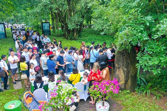 Khách xếp hàng cả cây số để xem nhà mẫu và mua nhà tại Ecopark ảnh 3