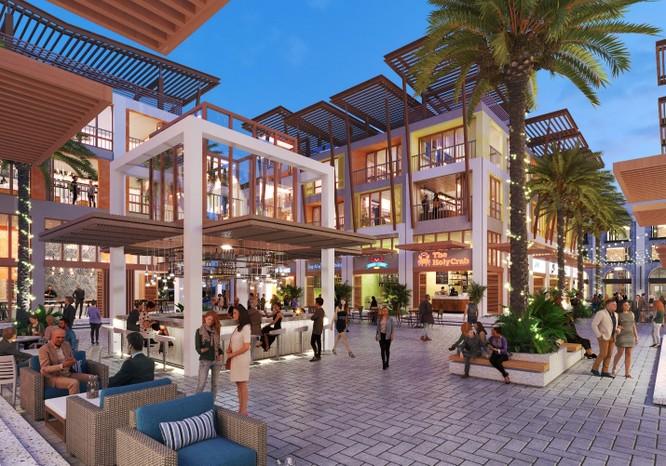 Hình ảnh phối cảnh khu Shophouse dự án Vega City Nha Trang.