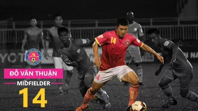 Văn Thuận đang là tiền vệ trung tâm xuất sắc nhất V.League 2019 (ảnh CLB Sài Gòn)