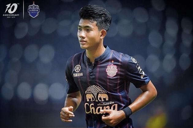 Trong mùa giải thứ 2 đá cho Buriam United, tiền đạo trẻ này đã có 1 bàn thắng sau 8 lần ra sân (ảnh CLB)