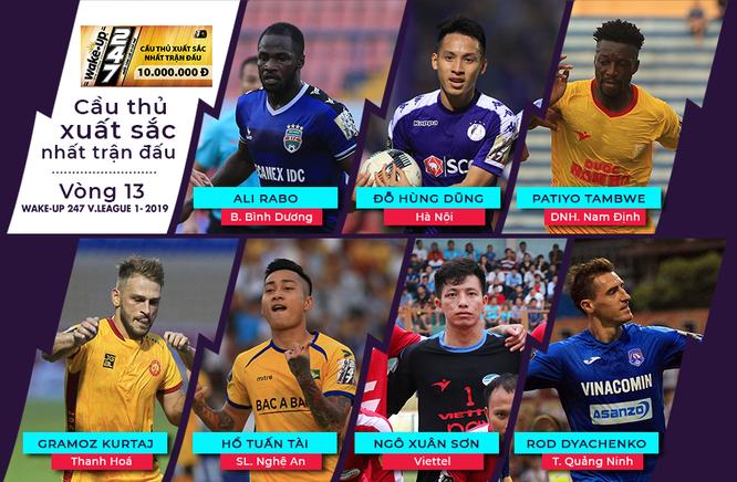 7 khuôn mặt xuất sắc nhất vòng 13 V.League 2019 (ảnh VPF)