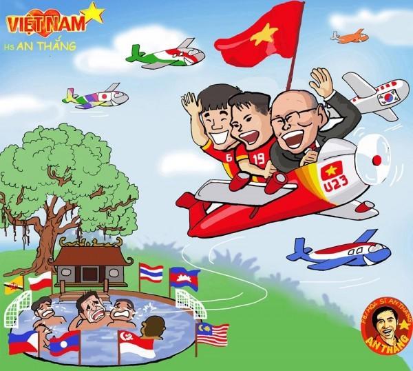 Mục tiêu của ông là vô địch SEA Games đưa Việt Nam tiến xa nhất ở vòng loại World Cup 2022 khu vực châu Á. (ảnh An Thắng)
