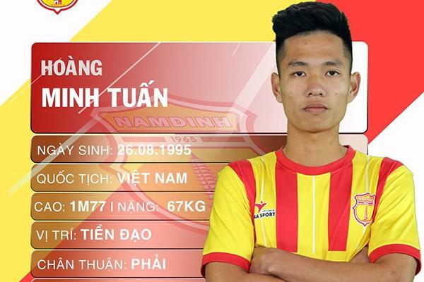 Tiền vệ Hoàng Minh Tuấn đến khoác áo Phù Đổng FC ở lượt về giải hạng Nhất 2019 theo dạng cho mượn (ảnh Hội CĐV NĐ)