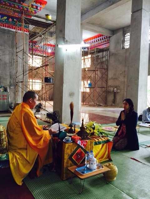 Thủy Tiên cho rằng mình có mối lương duyên nơi cửa Phật (ảnh VietTimes)