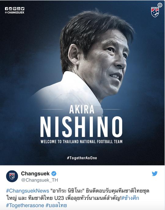 Các kênh truyền thông lớn của Thái Lan như Siam Sports, FootballSiam, SMM Sports hay Foxsport phiên bản châu Á đều đánh giá cao ông thầy Nhật Bản (Twitter của LĐBĐ Thái Lan)