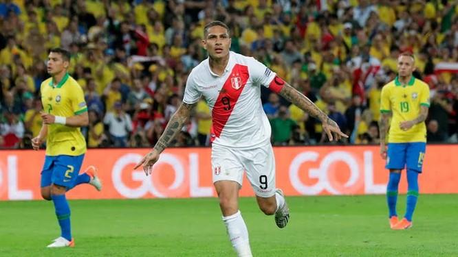 Duy nhất Peru chọc thủng lưới chủ nhà Brazil tại Copa America 2019 (ảnh AP)