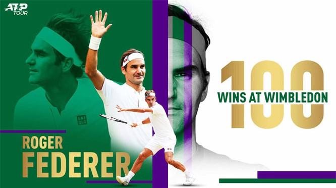 Federer thắng trận thứ 100 ở Wimbledon (ảnh VietTimes)