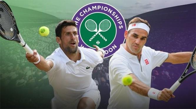 Chung kết Wimbledon 2019 là lần thứ 3 Djokovic và Federer chạm trán nhau trong trận tranh ngôi vương. Ảnh AP.