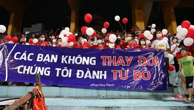 CĐV HAGL đưa đến thông điệp phản ứng thái độ thi đấu của đội cũng như phát ngôn