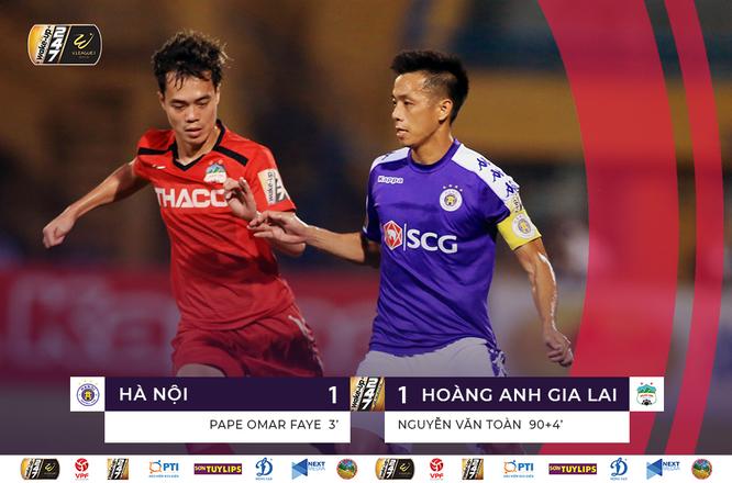 """Ngoài tình huống kiến tạo cho Omar ghi bàn đầu trận thì đội trưởng của Hà Nội đã có khá nhiều đường bóng đặc trưng Quyết """"rừng"""