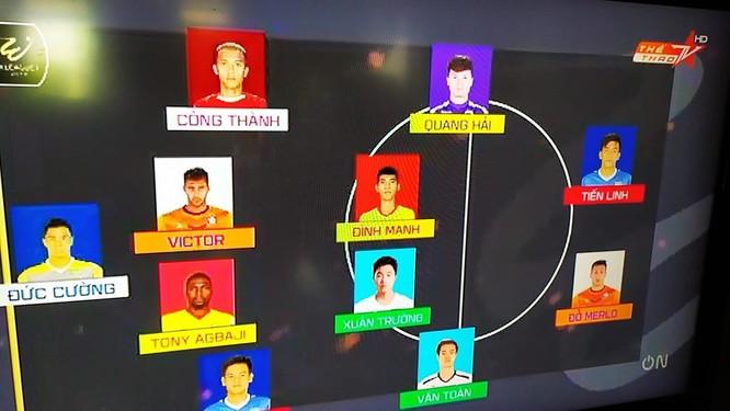 2 cầu thủ Nam Định đã có tên trong đội hình tiêu biểu của vòng 18. Ảnh VPF