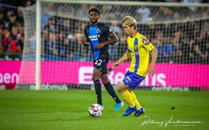Công Phượng được ra sân hơn 20 phút ở trận thua 0-6 trước Club Brugge KV. Ảnh CLB.