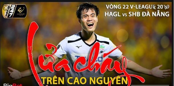 Sở hữu dàn sao nhưng HAGL cũng đang phải chạy trốn suất Play-off. Ảnh VietTiems.
