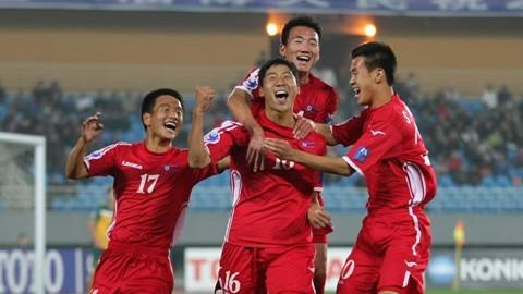 Các cầu thủ Triều Tiên đều có thể hình lý tưởng. Ảnh AFC.