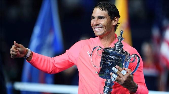 Lần thứ 4 Nadal lên ngôi vô địch tại US Open . Ảnh AP