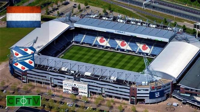 Sân vận động Abe Lenstra, được đặt theo tên của cầu thủ nổi tiếng nhất của CLB, với sức chứa 27.224 chỗ ngồi. Ảnh CLB.