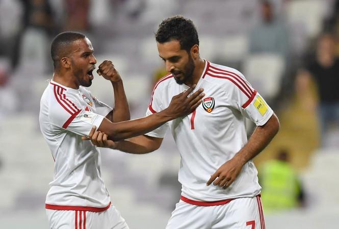 Lội ngược dòng giành thắng lợi 2-1, UAE đứng thứ nhì. Ảnh AFF.