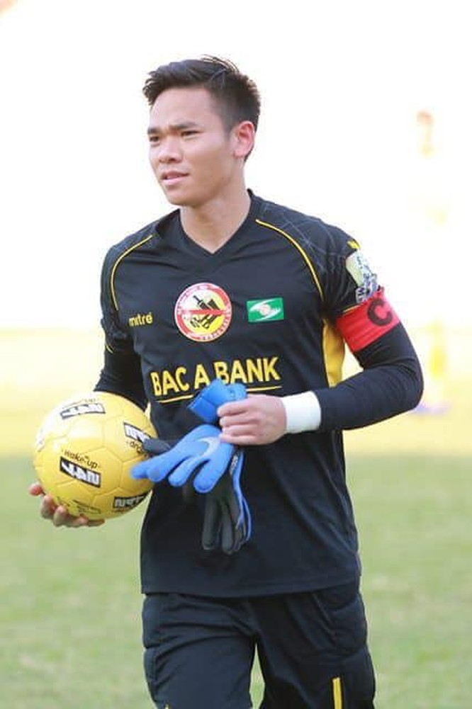 Thủ môn Nguyên Mạnh (SLNA) đã trở lại ĐT Việt Nam. Ảnh SLFC.