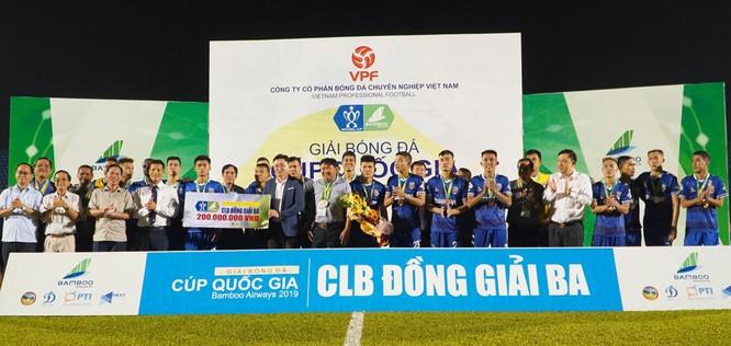 B.Bình Dương đoạt giải 3 Cúp quốc gia. Ảnh VPF