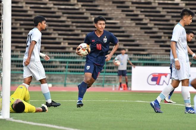 Suphanat đã có 9 bàn thắng sau 2 lượt trận vòng loại U19 châu Á. Ảnh: FAT.