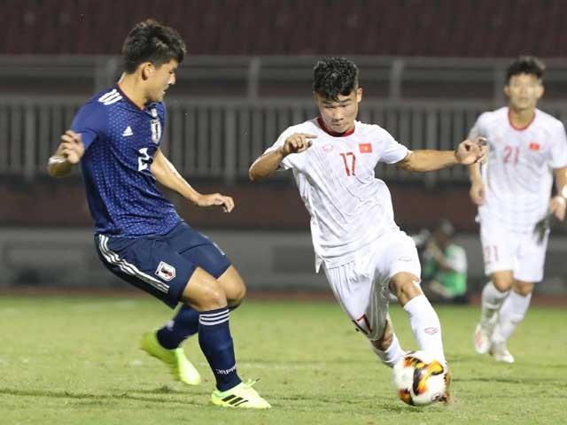 U19 Việt Nam đã xuất sắc cầm hòa đội bóng mạnh nhất bảng là U19 Nhật Bản với tỷ số 0-0. Ảnh VPF