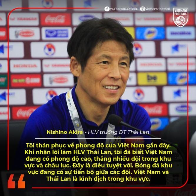 Ông thầy Nhật Bản dành sự tôn trọng cho đội chủ nhà. Ảnh VF.