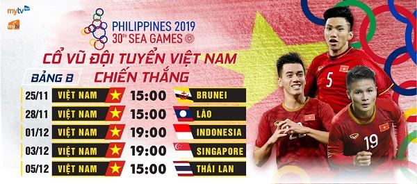 Trong đội hình U22 Việt Nam tham dự SEA Games lần này có đến 14 trên tổng số 20 cầu thủ đang và đã từng là cầu thủ đội tuyển quốc. Ảnh Mytv
