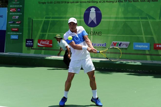 Daniel đang có thứ hạng 340 trên bảng xếp hạng của ATP, hạt giống số 1 ở nội dung đơn nam. Ảnh Nguyễn.