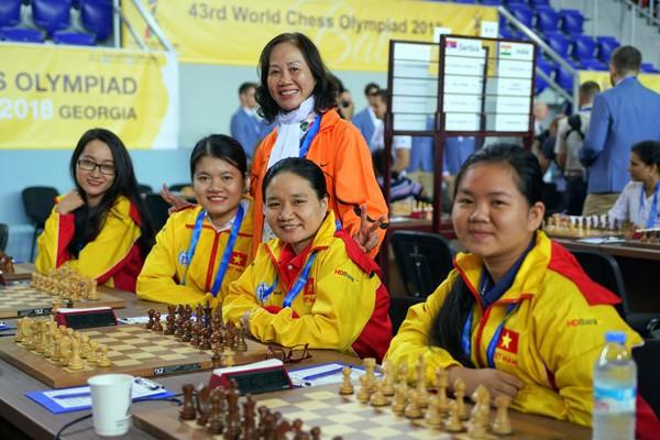 Đội tuyển cờ vua nữ. Ảnh TT