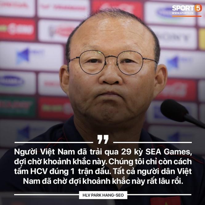 Ông Park đã thấm hiểu khát vọng Việt Nam. Ảnh VFF.