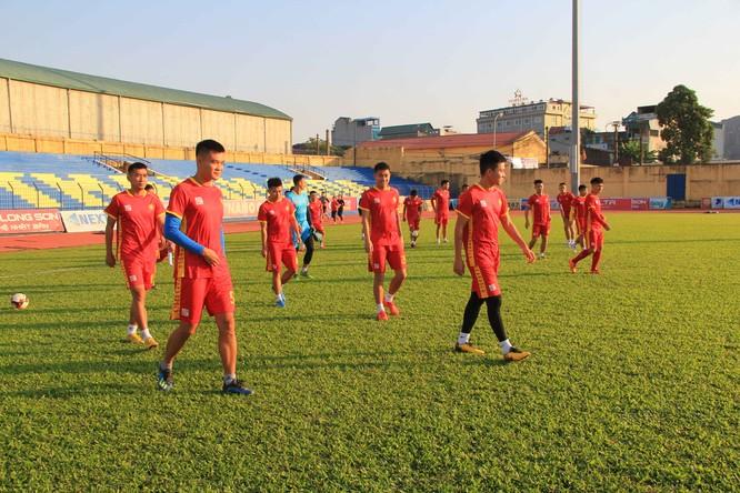 Cầu thủ Thanh Hóa đã tập trung từ 5/12 để tập luyện chuẩn bị cho V.League 2020. Ảnh Mạnh Cường.