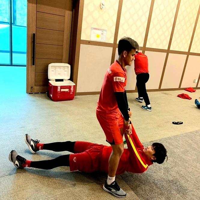 Các hoạt động của các cầu thủ Việt Nam đều được đối thủ cập nhật. Ảnh VFF