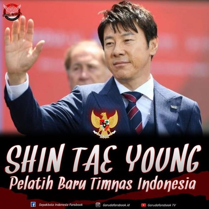 """Liên đoàn bóng đá nước này muốn HLV Shin Tae-yong """"tái thiết"""" lại bóng đá sớm Indonesia, sớm đưa bóng đá nước này đuổi kịp Thái Lan, Việt Nam. Ảnh PSSI"""