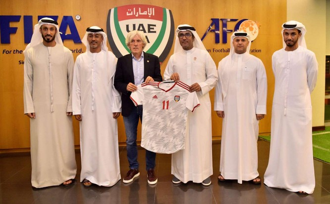 Liên đoàn bóng đá UAE cho rằng, với 3 tháng chuẩn bị họ hoàn toàn có thể giành chiến thắng tất cả các trận đấu còn lại để đứng đầu bảng. Ảnh UAE