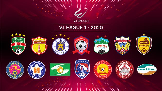 14 đội tham dự V.League 2020. Ảnh VPF