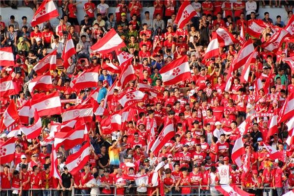 CĐV Hải Phòng nổi tiếng với tình yêu bóng đá. Ảnh HPFC