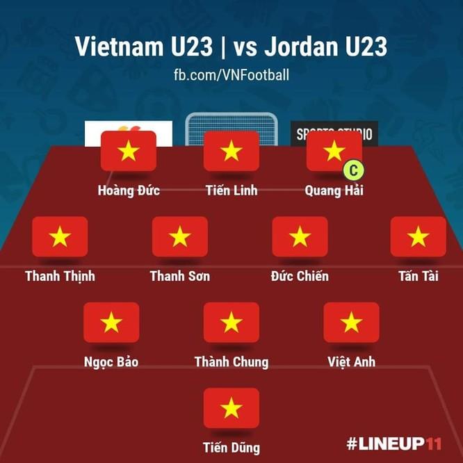Đội hình xuất phát U23 Việt Nam. Ảnh
