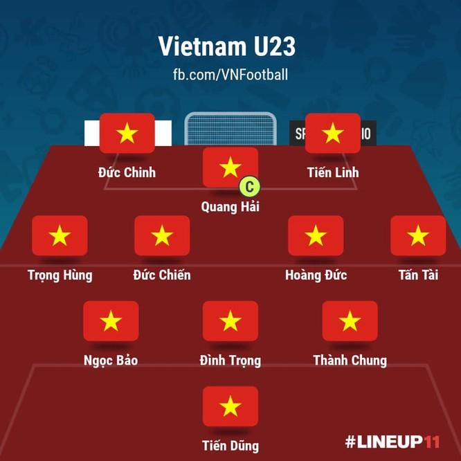 Thành Chung là điểm sáng hiếm hoi của U23 Việt Nam trong trận gặp U23 Triều Tiên.