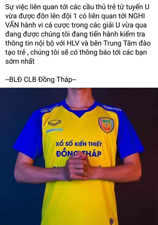 9 cầu thủ U21 Đồng Tháp cá độ bóng đá ảnh 1