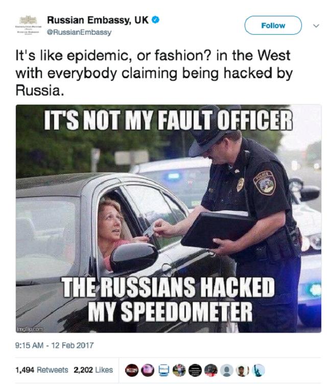"""Chết cười với những lần chính phủ Nga """"troll"""" Mỹ và Anh trên Twitter ảnh 2"""