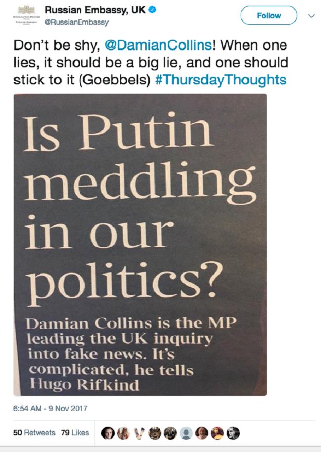 """Chết cười với những lần chính phủ Nga """"troll"""" Mỹ và Anh trên Twitter ảnh 9"""