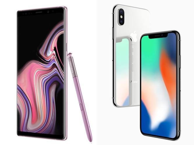 """Samsung Galaxy Note 9 và Apple iPhone X: cuộc chiến của những Smartphone """"nghìn đô"""" ảnh 1"""